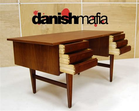 mid century modern teak office desk