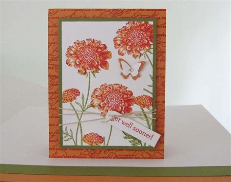 Christmas Gift For Best Friends - stampin up field flowers
