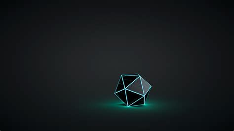 crystal glowing digital art geometry wallpapers hd