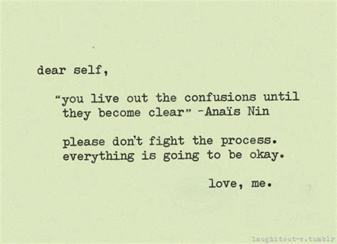 Hoodie Dear Self Don T Focus On The Negative dear self quot you live out the confusions until they become clear quot anais nin don t fight