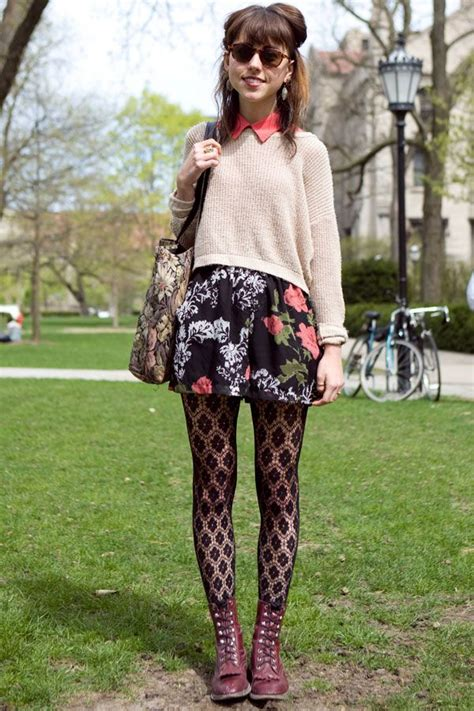 patterned tights boots how to wear patterned tights glam radar