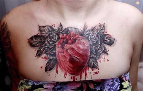 imagenes de tatuajes de un corazon tatuaje corazon realista