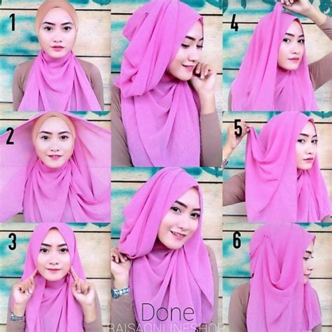 tutorial hijab segi empat simple terbaru 2015 tutorial hijab pesta simple segi empat modern terbaru 2016