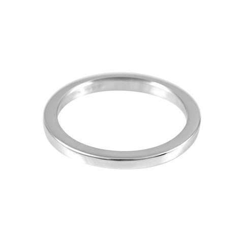 inwaves sterling silver plain ring handmade hallmark