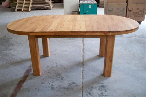 Large Round Oak Dining Table 8 Chairs