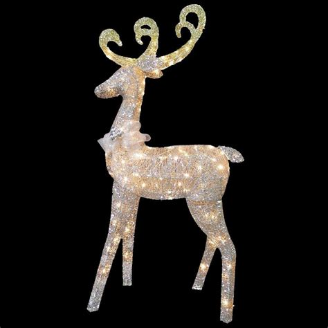 National Tree Company 60 In Reindeer Decoration With Reindeer Lights