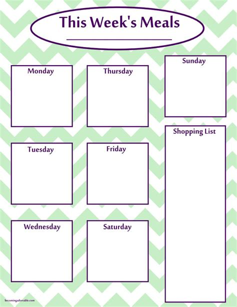 printable meal planning sheets 120 best menu planners menus images on pinterest