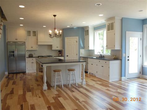 hickory floors with white cabinets hostetler builders