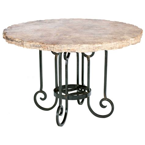 Iron Kitchen Tables Curled Leg Iron Dining Table With 60 Quot Marble Top