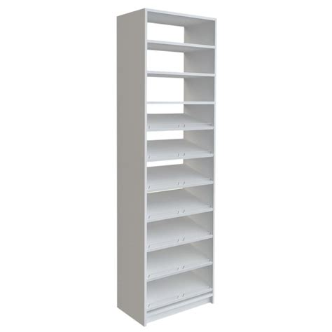 White Shoe Shelf by Closetmaid Selectives 83 In H X 120 In W X 14 5 In D