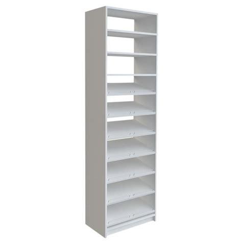 shoe storage white simplyneu 84 in h x 24 in w white shoe storage tower kit