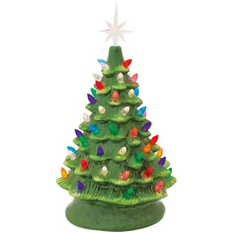 how to paint a ceramic christmas tree green ceramic tree with lights bronner s