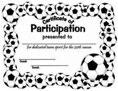 template soccer certificate template for word free printable