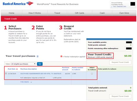 Bank Of America Rewards Gift Cards - how to redeem bank of america worldpoints travel rewards