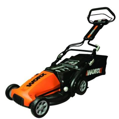 Lawn Mowers Home Depot by Worx 19 In Walk Cordless Electric Lawn Mower Wg788