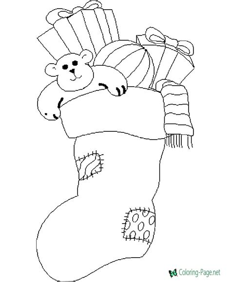 full stocking christmas coloring page