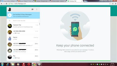 tutorial whatsapp di android cara menggunakan whatsapp di website atau pc tutorial