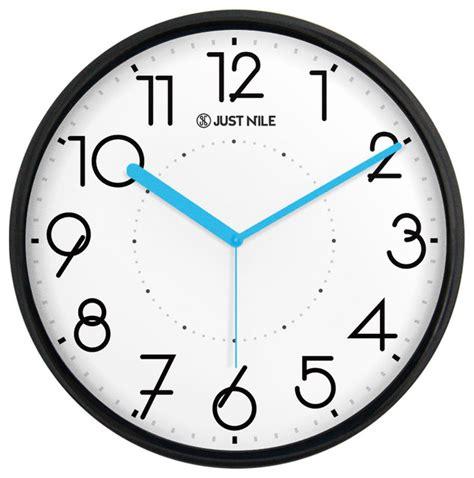 surprise savings on quiet wall clocks shop houzz justnile justnile silent 13 quot non ticking