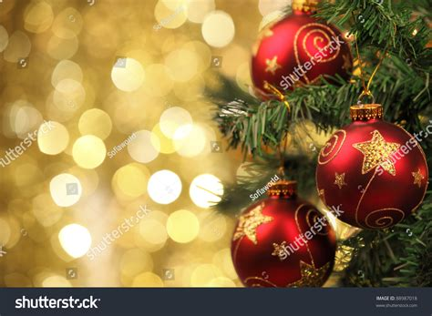 closeup christmastree decorations stock photo 88987018