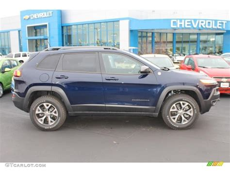 jeep trailhawk blue 2015 true blue pearl jeep cherokee trailhawk 4x4 99825678