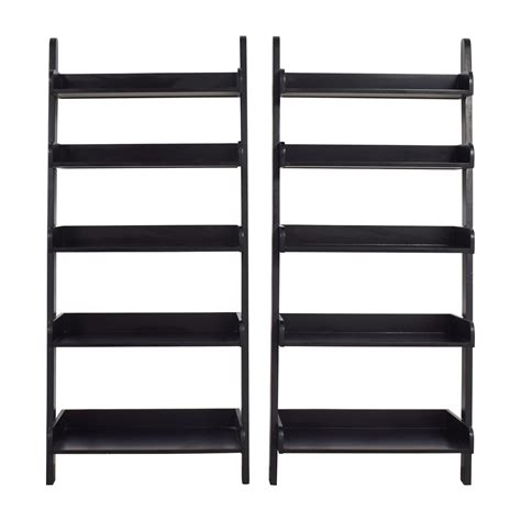 black 5 shelf bookcase bookcases shelving used bookcases shelving for sale