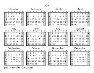 printable calendar without weekends download 2018 printable calendars