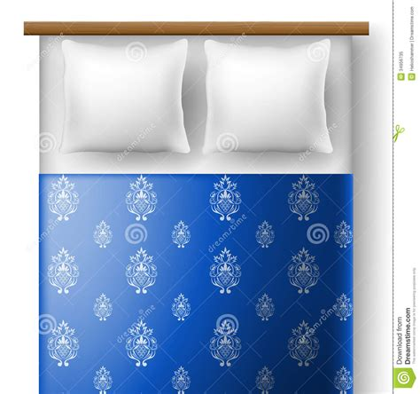 how to be good on top in bed bed from top view with pillows stock image image 34956735