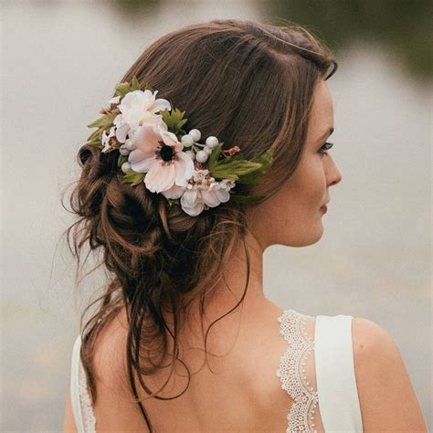 Wedding Hairstyles With Flowers In Hair by Flower Hair Pieces For Wedding Flowers In Hair Wedding