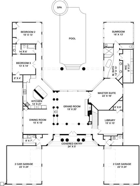 u shaped floor plans with pool 25 best ideas about u shaped house plans on pinterest u