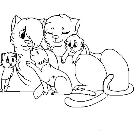 cat family coloring page cat family lineart by wolfieartist101 on deviantart
