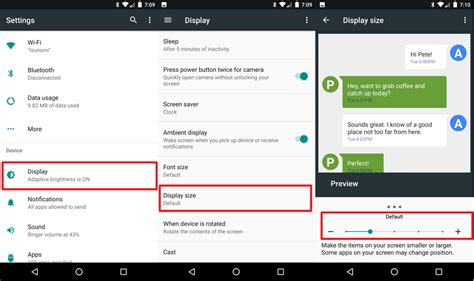 android reset open with preferences how to change display size settings on android nougat