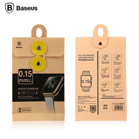 Tempered Glass Apple 1 2 3 42mm Or 38mm baseus cover 0 15mm tempered glass for apple