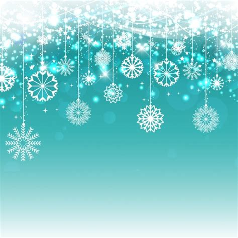 hanging snowflakes hanging snowflakes on blue background vector free