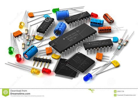 Electrical Plan by Electronic Components Royalty Free Stock Image Image