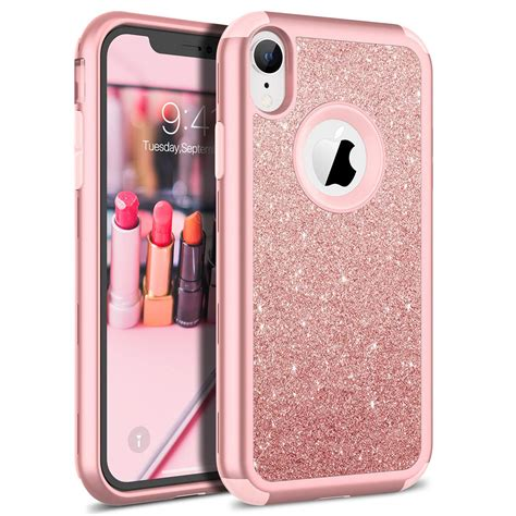 shockproof armor for iphone xr xs max 8 luxury bling glitter sparkle cover soft silicon pc