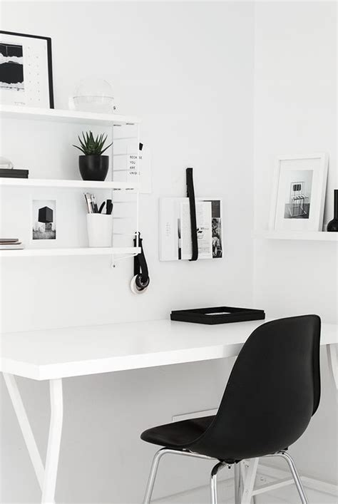 black and white home design inspiration bureaux maisons blanches and charles eames on pinterest