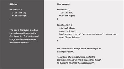 creating css columns 4 methods for creating equal height columns in css