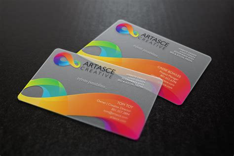 free plastic business card templates clear plastic business cards artasce creative