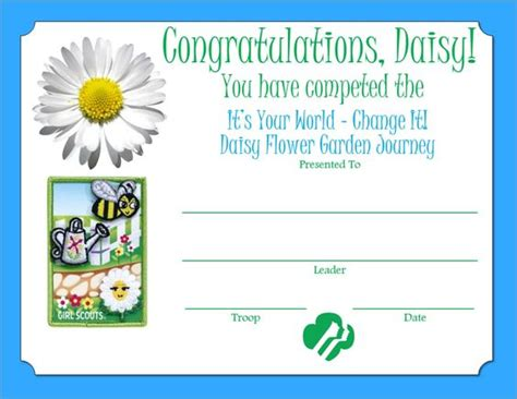 flower garden journey flower garden journey certificate scout