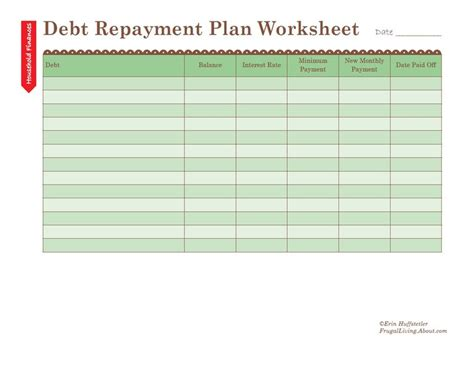 debt sheet template how to use a debt repayment plan worksheet