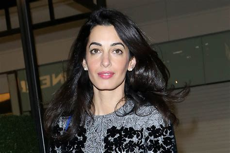 is amal clooney hair one length amal clooney hairstyle photo zntent com celebrity