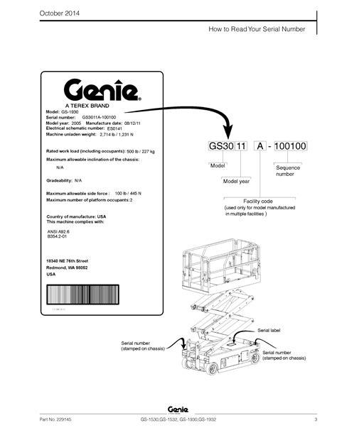 genie gs 1930 wiring schematicfor a repair wiring scheme