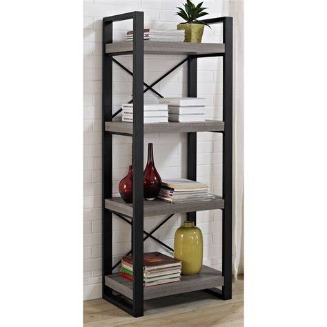 media storage shelves reclaimed wood media storage tower in free standing shelves