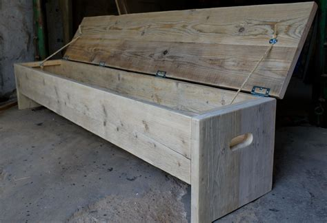 pine bench with storage pine storage bench plans