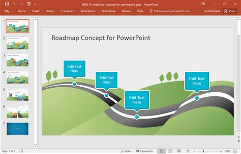 Best Roadmap Templates For Powerpoint Microsoft Powerpoint Templates Road