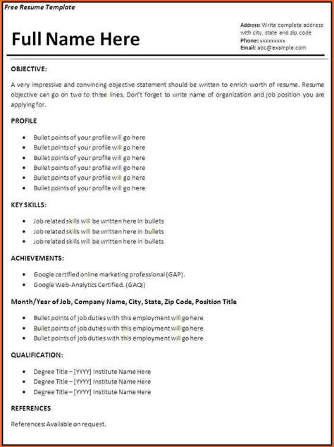 10 It Resume Template Budget Template Letter It Resume Template