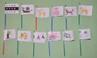 parsha craft bamidbar twelve tribes flags challah crumbs