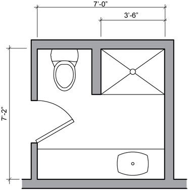 9x12 bathroom layout three quarter bath floor plan small bathroom pinterest