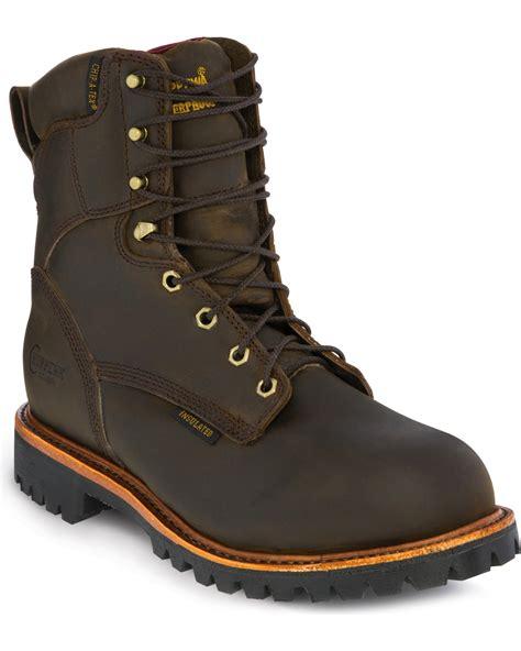 chippewa mens work boots chippewa s insulated waterproof steel toe utility work