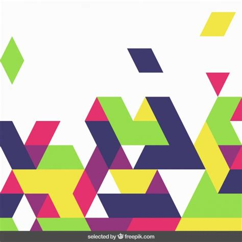 colored shapes colored shapes background vector free